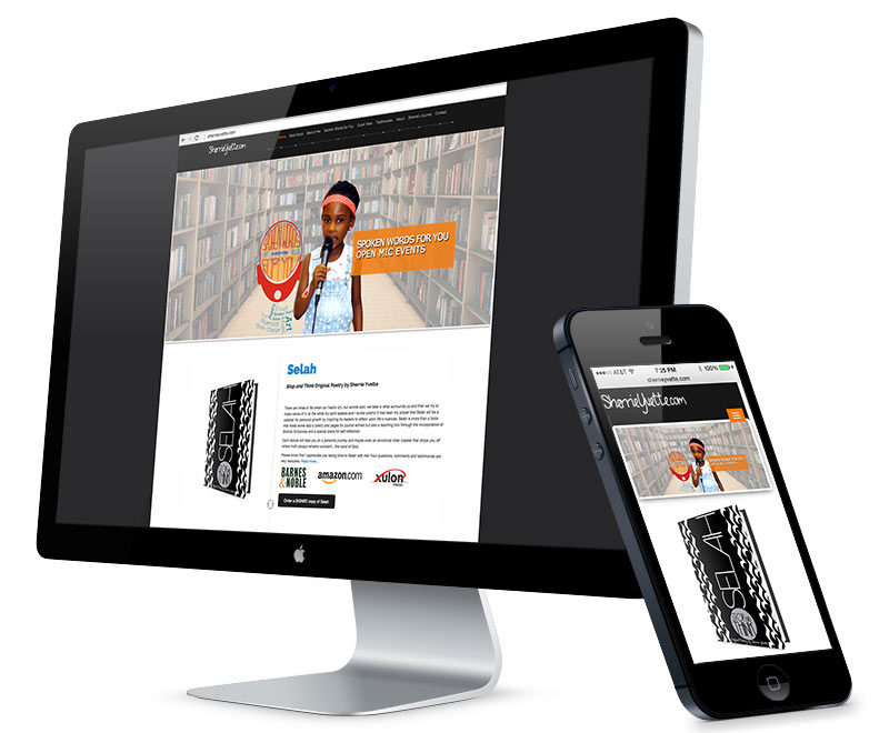 Web design for Sherrie Yvette