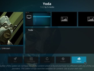How to Install Yoda Kodi Addon on Kodi 17.6 Krypton