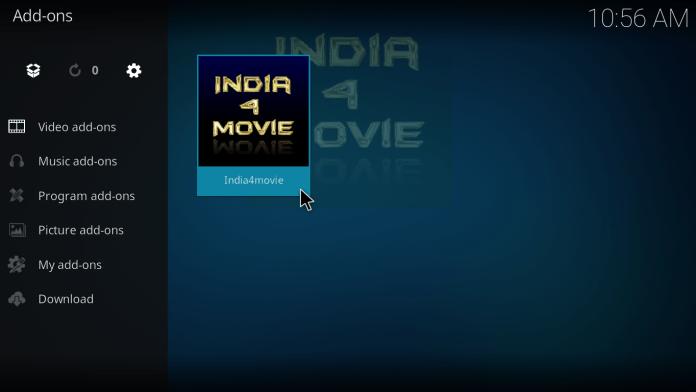 India4Movie Kodi Addon-Successfully Installed