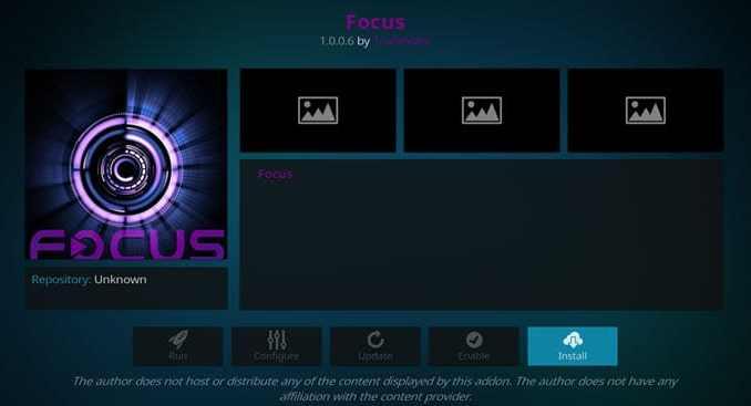 Focus Addon Guide - Kodi Reviews