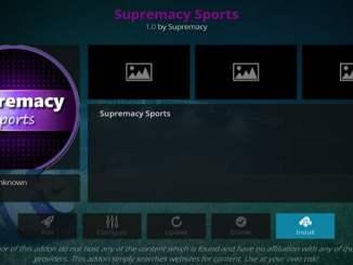 Supremacy Sports Addon Guide - Kodi Reviews