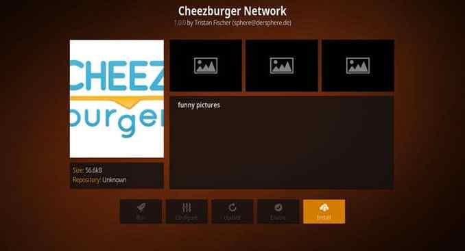 Cheezeburger Network Addon Guide - Kodi Reviews