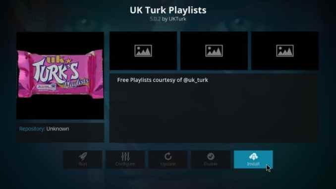 How to Install UK Turk's Playlists Kodi Addon in 3 Easy Steps
