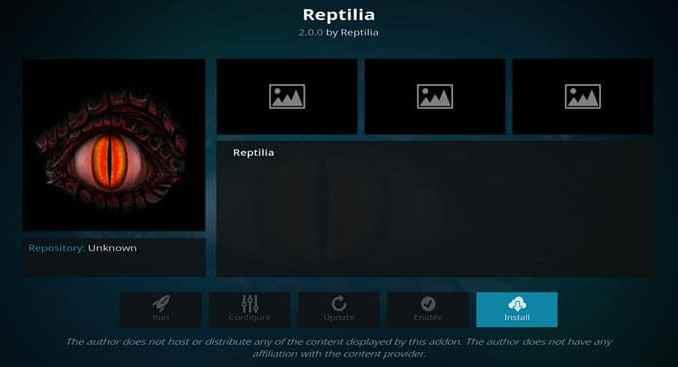 Reptilia Addon Guide - Kodi Reviews