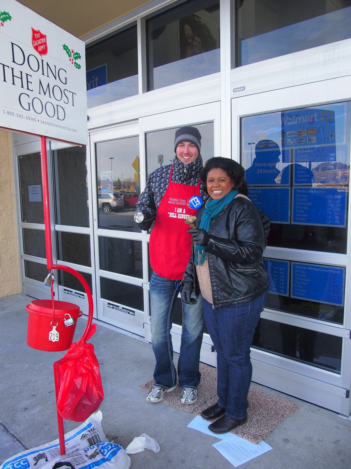 Husker Home Finders, Bell Ringing Volunteer, Salvation Army Omaha, NP Dodge