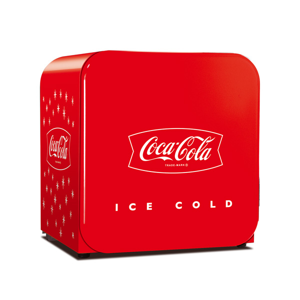 Coca-Cola Stars Red Retro Mini Fridge