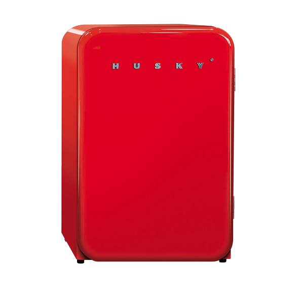Husky Red Retro Fridge