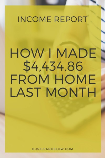 How I Made $4,434 in August 2018 from Online Businesses
