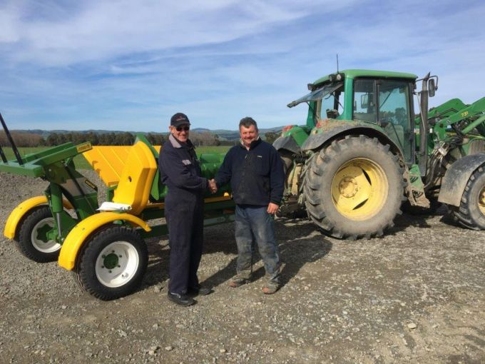 Another very happy customer in the wairarapa takes delivery of his new Chainless X5000, delivered by Alan James of James Trucks n Machinery Masterson.jpg