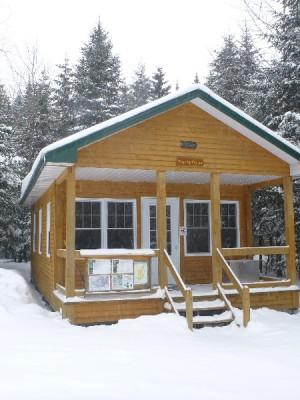Hut at Mont Megantic Park