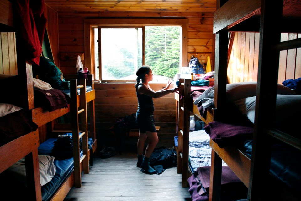 Mitzpah Bunks, Lonesome Lake Hut, Appalachian Mountain Club Huts Photos, hut2hut