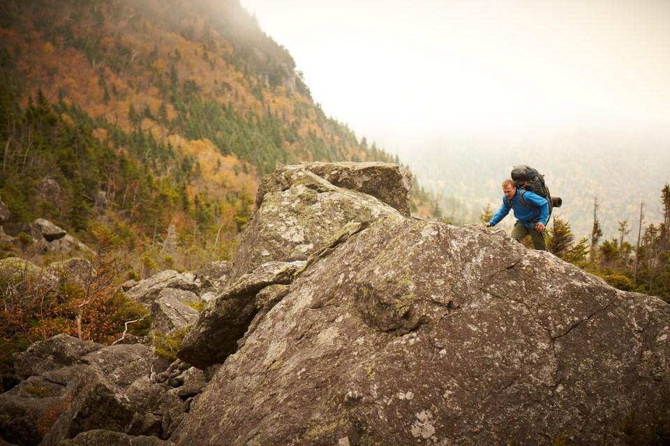 Rampart Rocks Near Carter, Appalachian Mountain Club Huts Photos, hut2hut