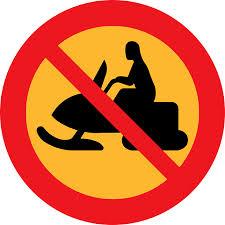 No Snowmobiles symbol