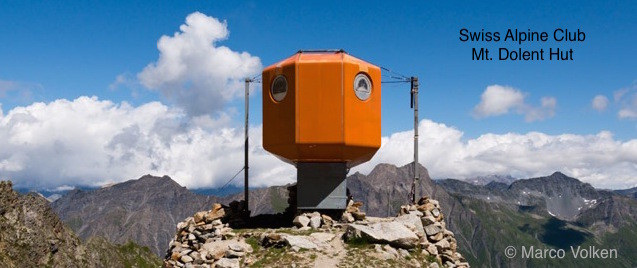 Dolent Hut, Swiss Alpine Club. Photo courtesy Marcon Volken.