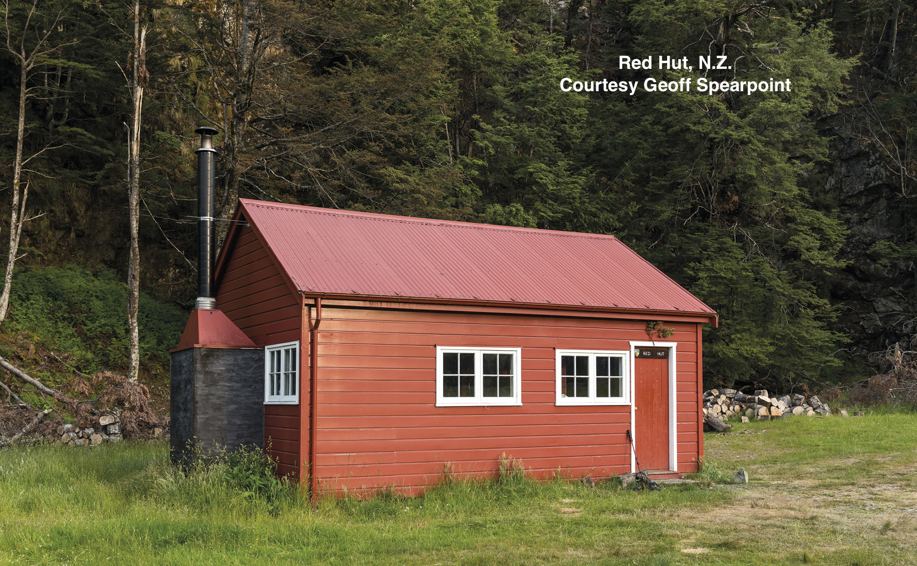 Red Hut, built by Rodolf Wigley, tourism pioneer and entrepreneur, c. 1916