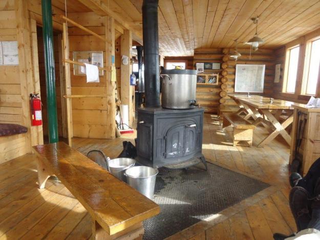 Peter Estin Hut interior, 10th Mountain Division Huts, hut2hut
