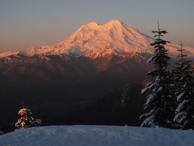 Mt Rainier, viewed from High Hut, Mount Tahoma Trails Association Operational Profile, hut2hut