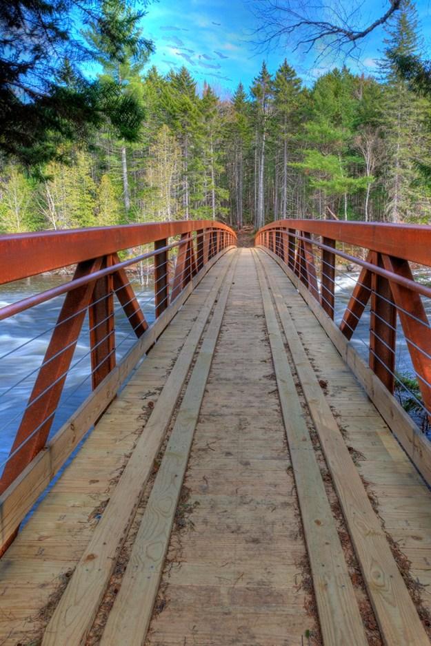 Grand Falls Bridge, Maine Huts & Trails, hut2hut