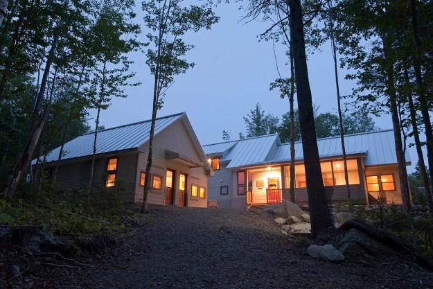 Poplar Hut in Summer, Maine Huts & Trails, hut2hut