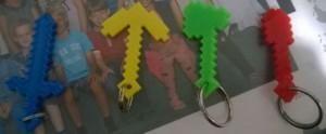 3D-tulostetut Minecraft avaimenperät