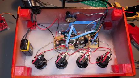 Nopeuspelin rakentelua osa 5 Speden speli - elektroniikka ja sisuskalut