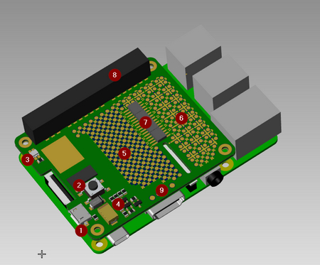 Raspberry Pi proto/power-levyn suunnittelua