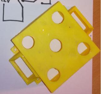 3D-tulostettu keltainen kotelo