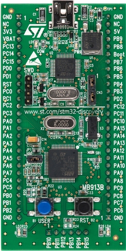 ARM mikroprosessori STM32VLDISCOVERY