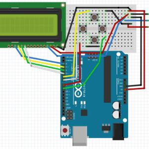 Arduino LCD valikko