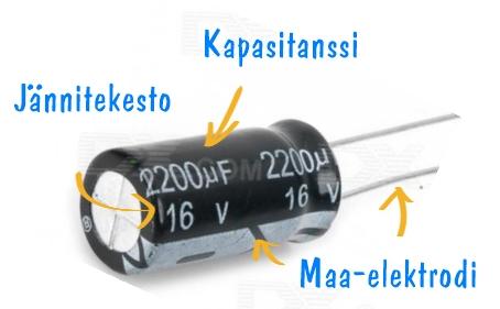 Kondensaattorin merkinnät