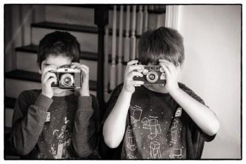 Teaching my son & a friend old school film photography