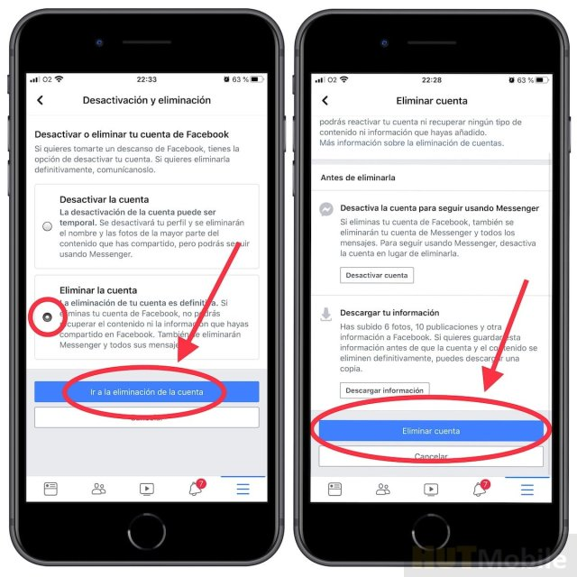 How to delete or deactivate your Facebook account from iPhone
