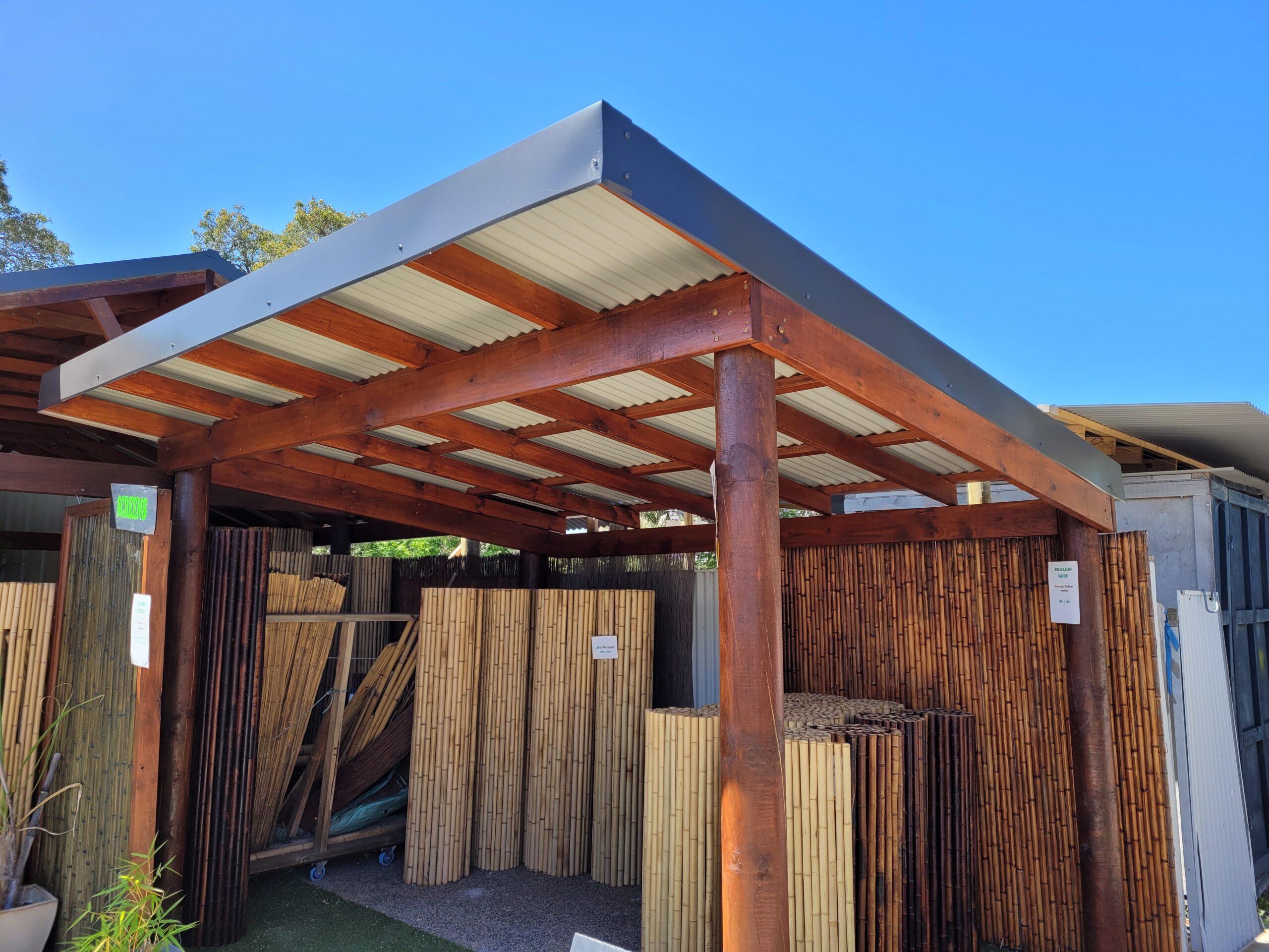 tropical timber patios huts decks