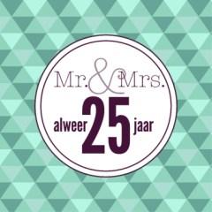 25 jaar huwelijkswensen