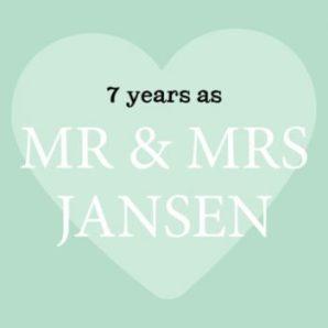 7 jaar getrouwd kaart