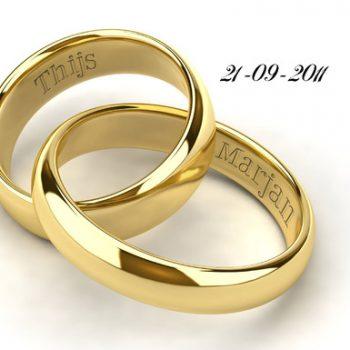 Huwelijkswens op een kaart