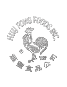 Clear Huy Fong Foods, Inc. Circle Logo with Rooster in the center