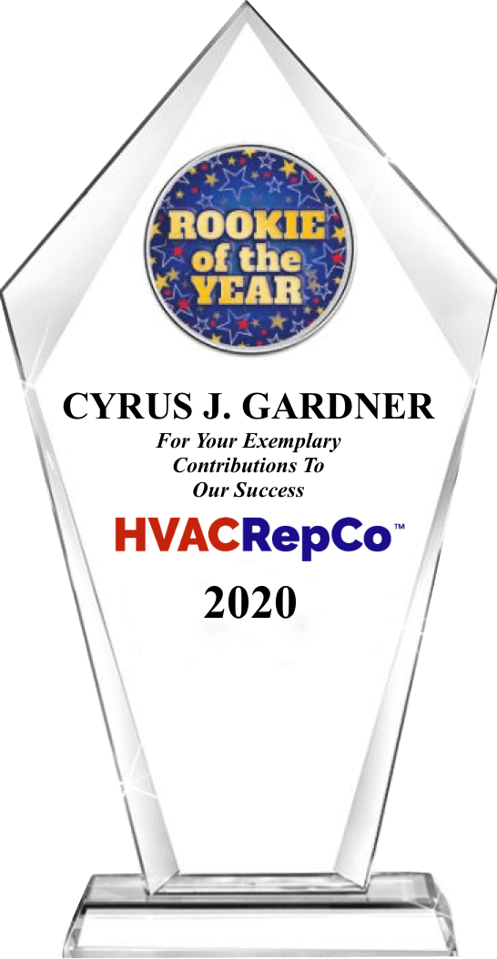 Cyrus Gardner Presented 2020 &Quot;Rookie Of The Year&Quot; Award | Hvac Repco