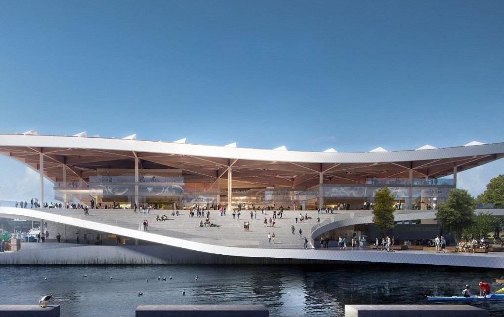 Design rendering of the Sydney Fish Market's redevelopment