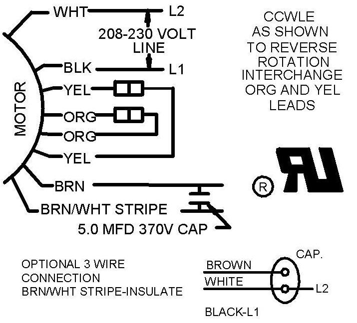 3 wire and 4 wire condensing fan motor connection hvac school fan clutch wiring diagram ac fan wiring diagram #12