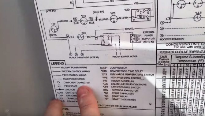 straight cool air conditioning schematic carrier  hvac school