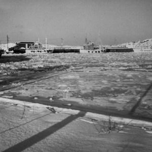 Isvinter i Sandøsund 1983
