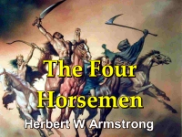 Outline of Prophecy 17 - The Four Horsemen