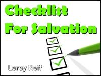 Checklist For Salvation