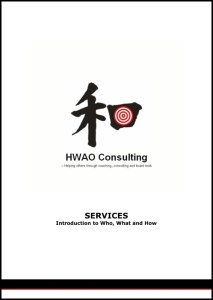 Front page of Services brochure