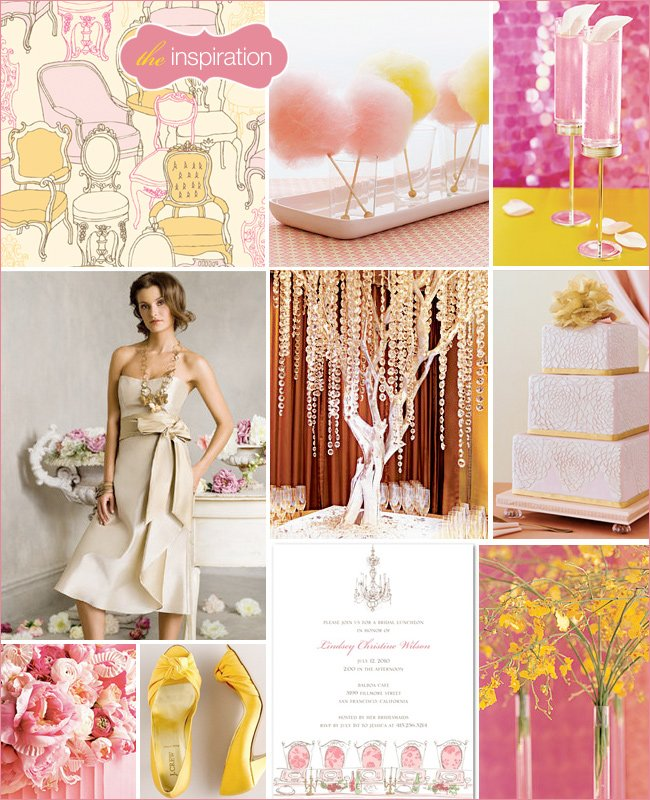 Pink and Yellow Wedding Theme Ideas