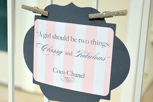 Coco Chanel Baby Shower Ideas