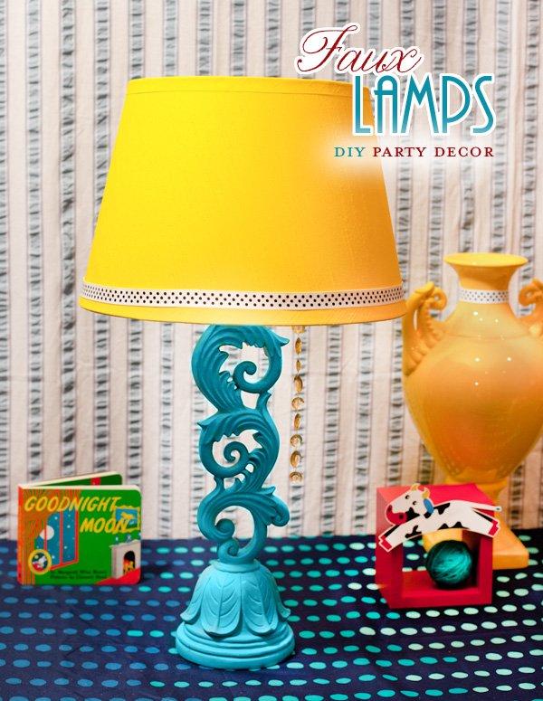 Faux Table Lamp Centerpiece