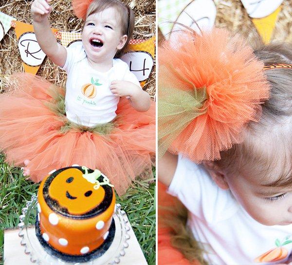 """Pumpkin Smash Cake: Darling """"Little Pumpkin"""" Fall Birthday Party // Hostess"""