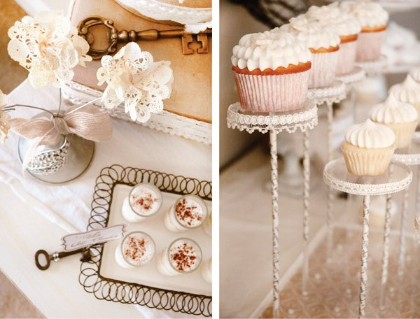 vintage french inspired mini cupcakes and desserts